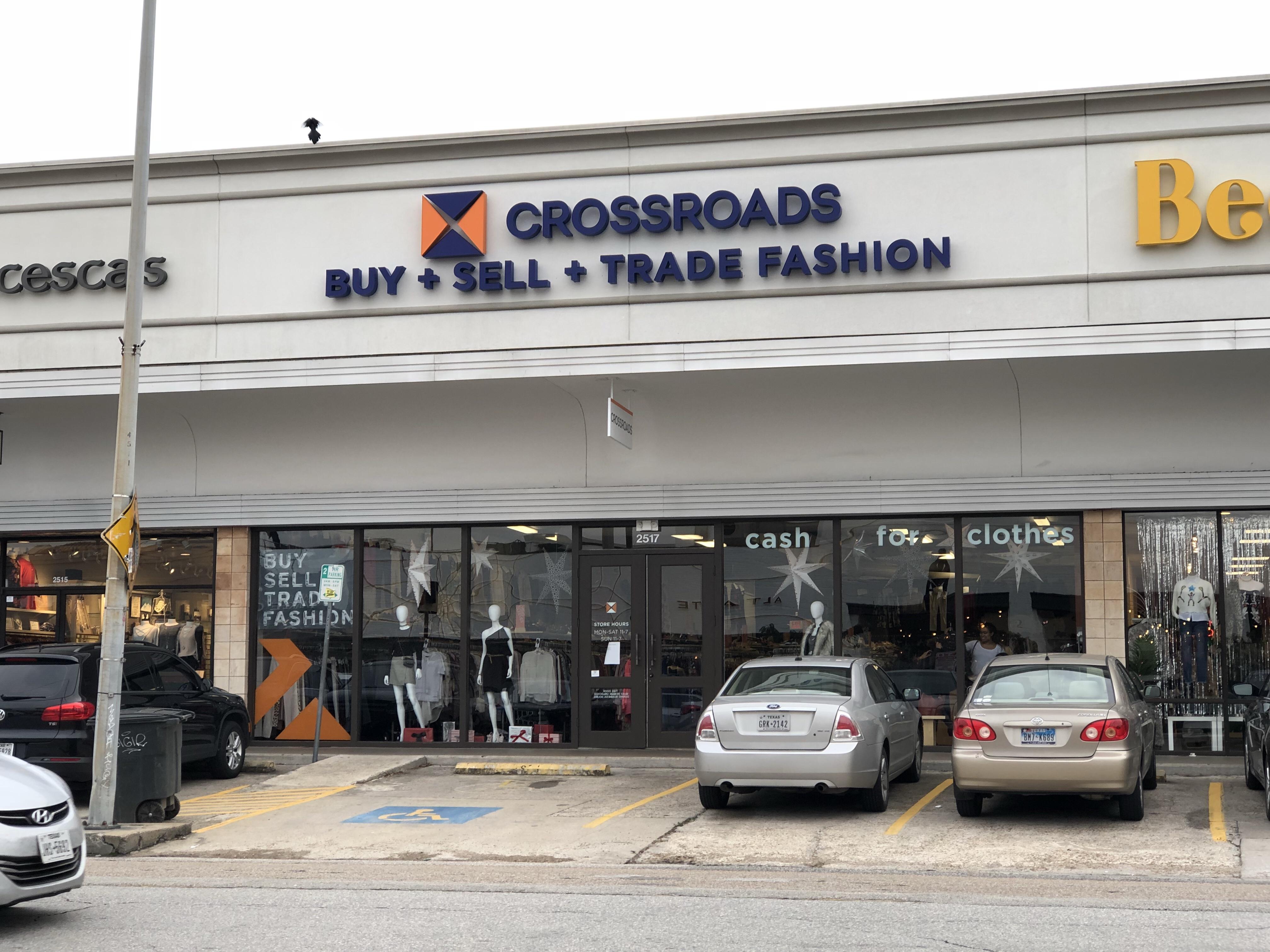 crossroads Houston, buy sell trade fashion